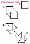 How to teach a child to draw a cube